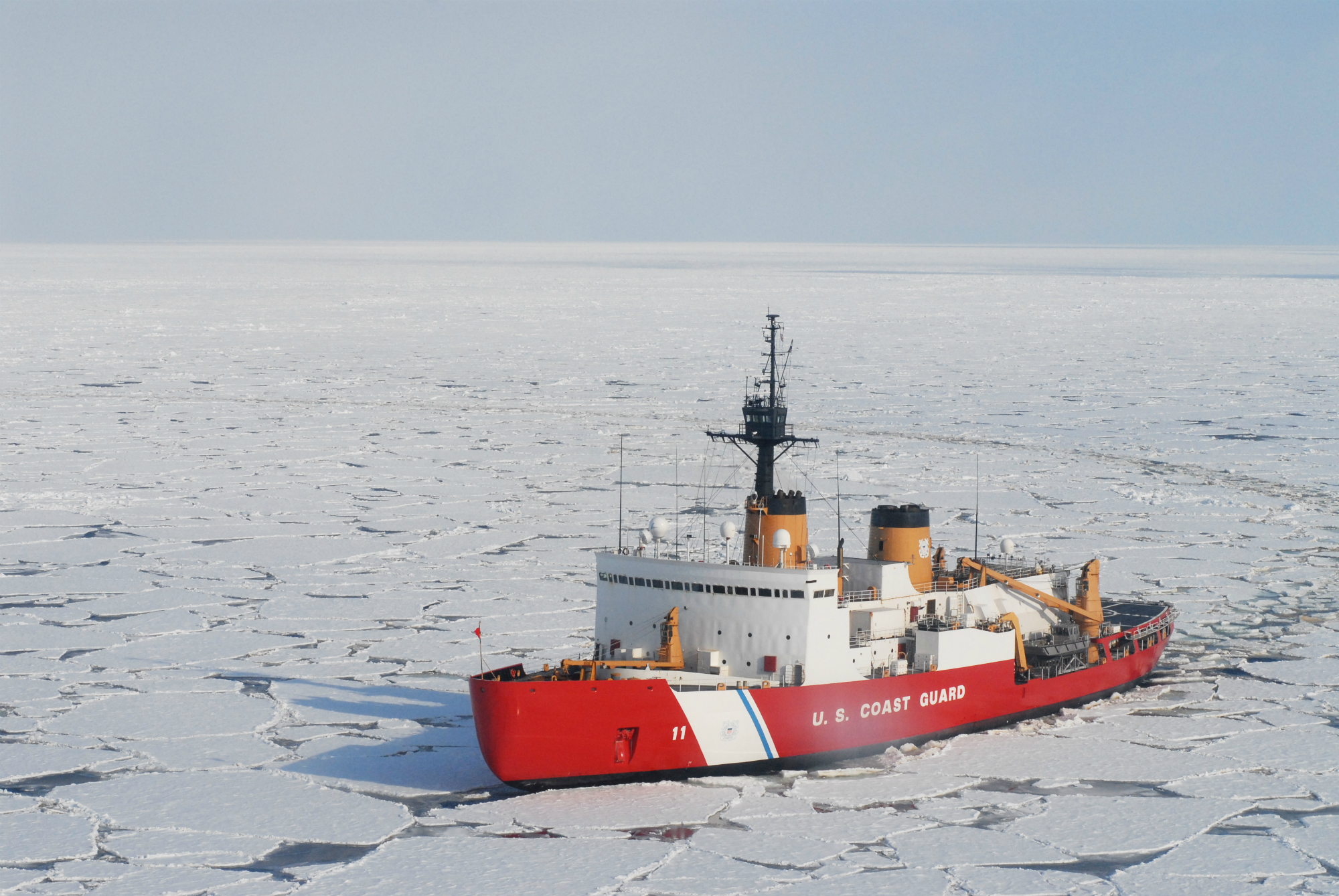 USCGC Polar Sea, one of 3 U.S. icebreakers